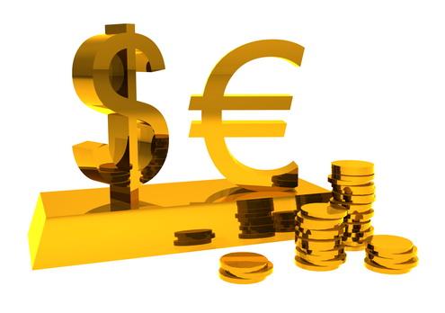 Euro-Dollar-Gold-